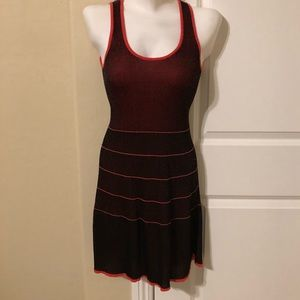 Armani Exchange Red and black dress